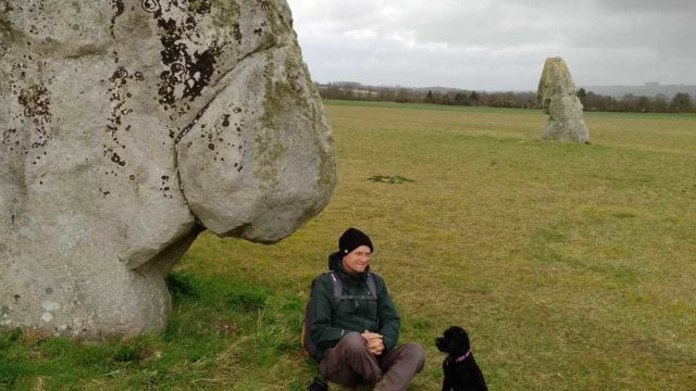 Dog walk at Avebury-Windmill Hill