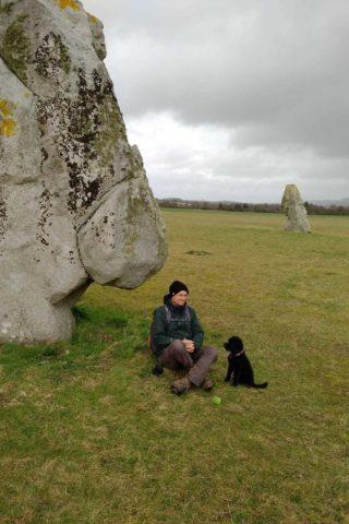 Dog walk at Avebury-Windmill Hill photo