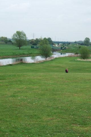 Dog walk at Back River, Stanground, Peterborough photo