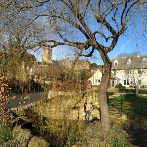 Dog walk at Blockley, Cotswolds