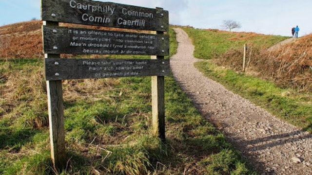 Dog walk at Caerphilly Mountain