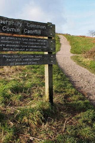 Dog walk at Caerphilly Mountain photo