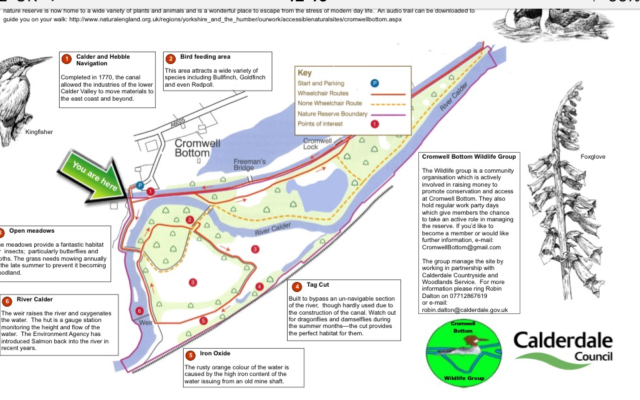 Cromwell Bottom Nature Reserve Dog walk in Yorkshire (West)