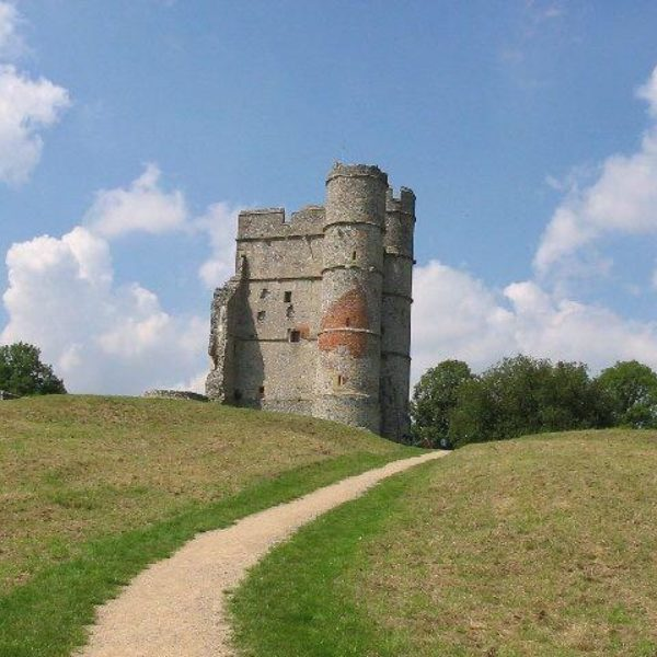 Dog walk at Donnington Castle