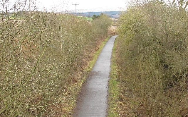 Dunblane to Doune Cycle Path Dog walk in Stirlingshire