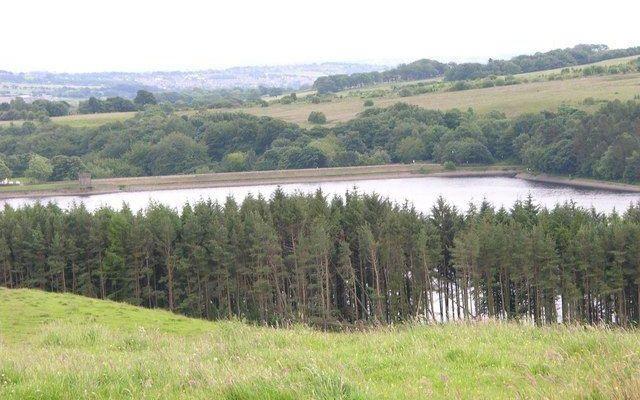 Entwistle Reservoir Dog walk in Lancashire