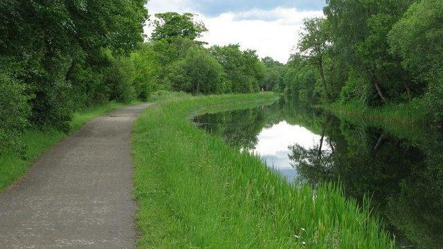 Dog walk at Forth And Clyde Canal