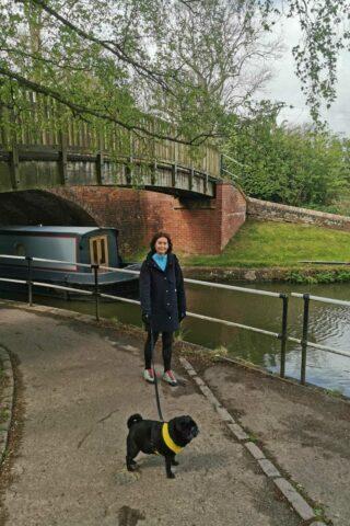 Dog walk at Foxton Locks Canal Walk photo