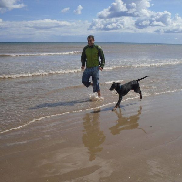 Dog walk at Fraisthorpe Beach, Bridlington