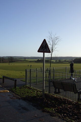 Dog walk at Great Ashby District Park Field Walk photo