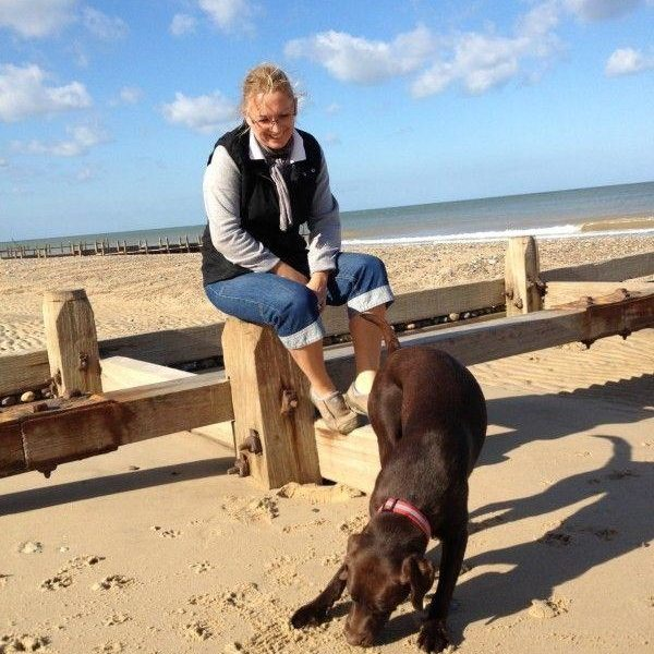 Dog walk at Happisburgh Beach