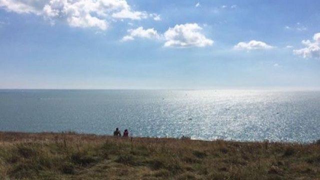 Dog walk at Hengistbury Head