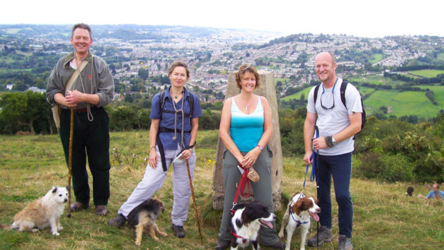 Dog walk at Julian House's Circuit of Bath Walk