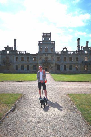 Dog walk at Kirby Hall photo