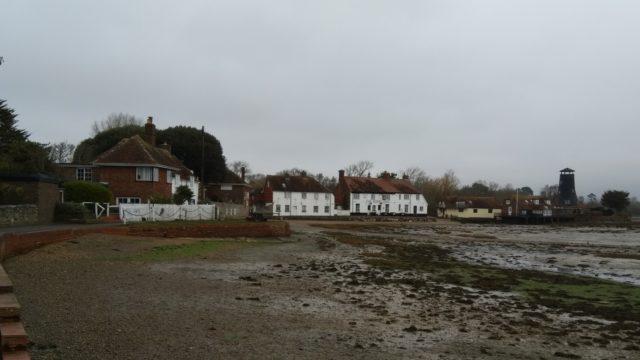 Dog walk at Langstone, Hampshire