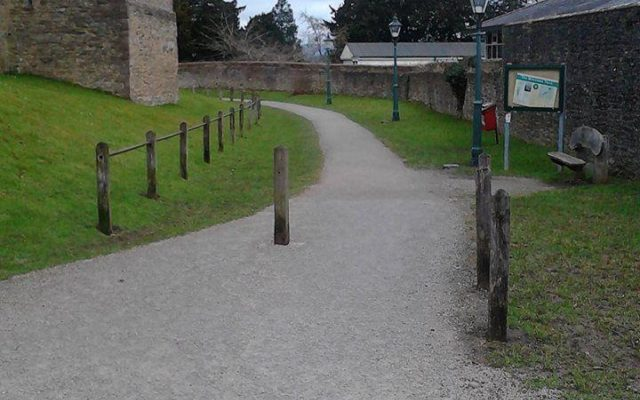 Ludlow Castle Dog walk in Shropshire