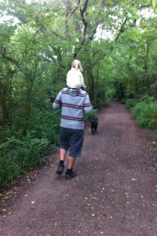 Dog walk at Manor Farm Country Park photo
