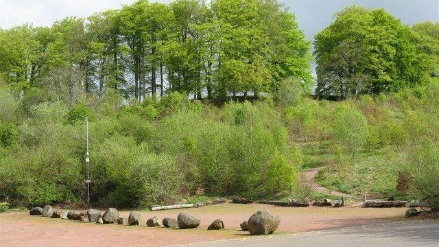 Dog walk at New Lanark And The Falls Of Clyde