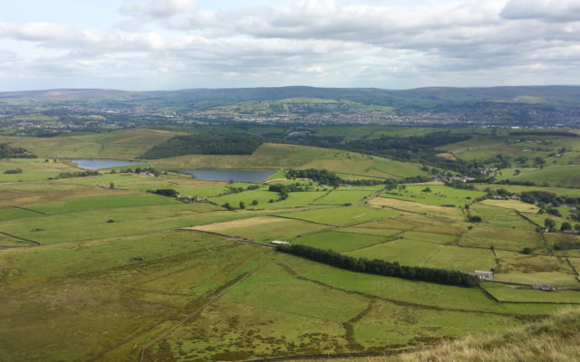 Pendle Hill Dog walk in Lancashire