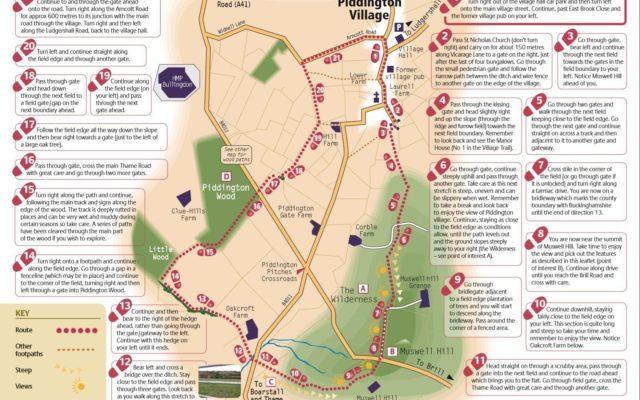 Piddington Circular Walk Dog walk in Oxfordshire