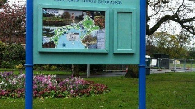 Dog walk at Poole Park