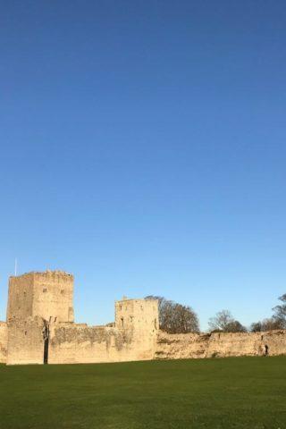 Dog walk at Portchester Castle photo