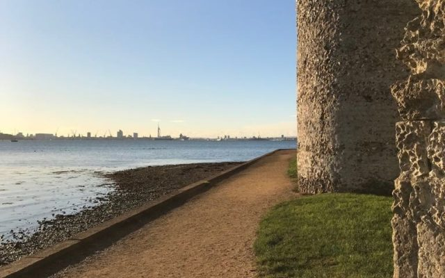 Portchester Castle Dog walk in Hampshire
