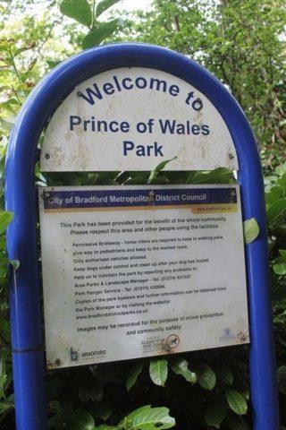 Dog walk at Prince Of Wales Park, Bingley photo