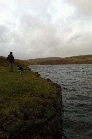 Dog walk at River Avon Dam, Dartmoor photo