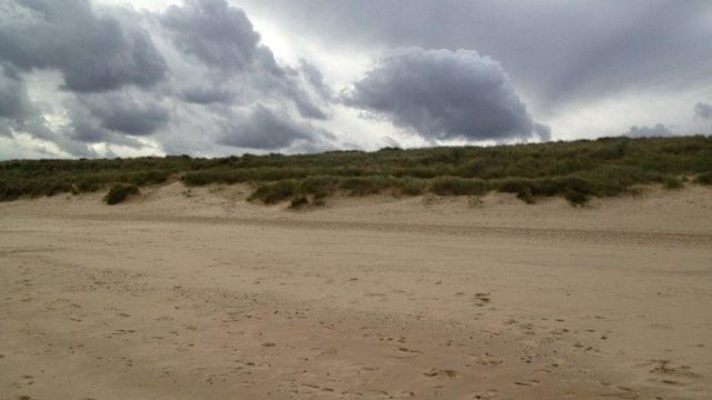 Dog walk at Sea Palling Beach