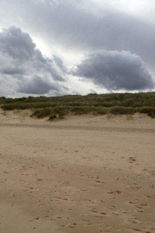 Dog walk at Sea Palling Beach photo