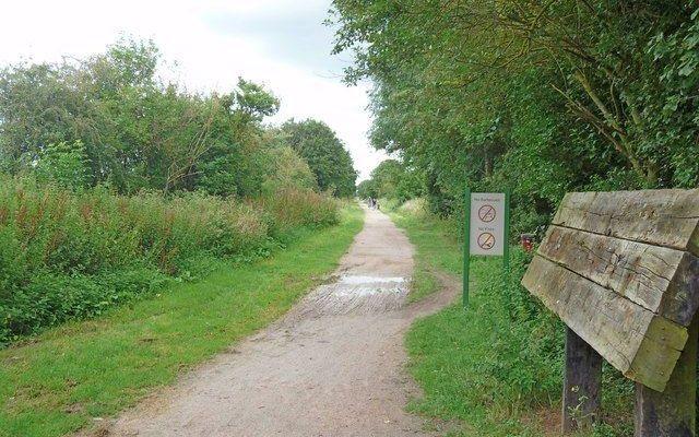 Stratford Greenway Dog walk in Warwickshire