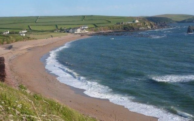 Thurlestone Beach Dog walk in Devon