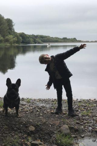 Dog walk at Upper Roddlesworth Reservoir photo