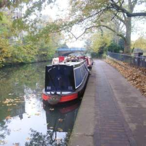 Urban Canalside In East London
